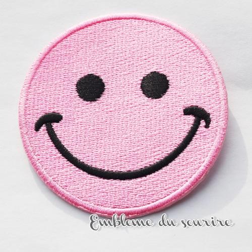 画像2: SALE★丸目 大きめ!まんまるお目め♪ピンクにこちゃんワッペン スマイル SMILE ワッペン