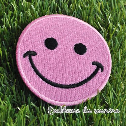 画像4: SALE★丸目 大きめ!まんまるお目め♪ピンクにこちゃんワッペン スマイル SMILE ワッペン