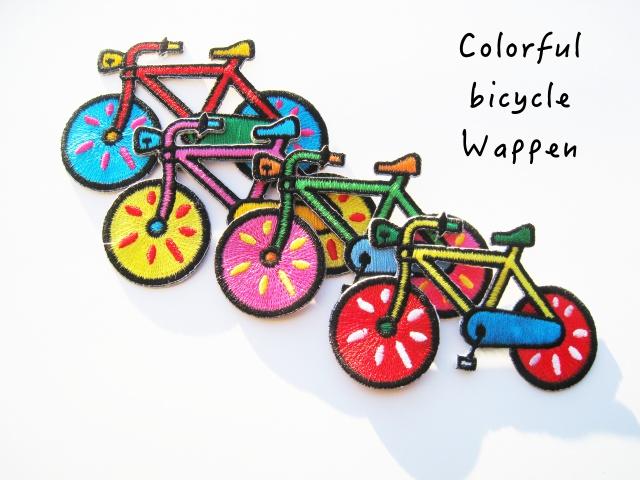 画像3: カラフル&レトロ バイシクル  ワッペン BIG(A.B.C.D)自転車 チャリ